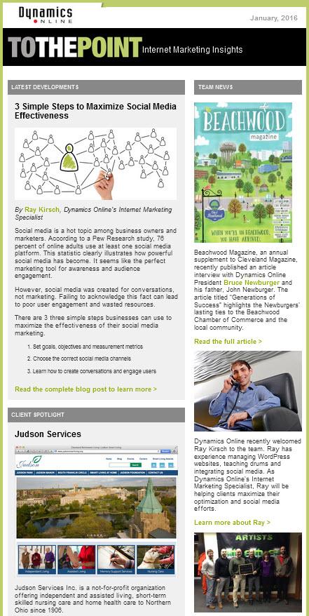 Dynamics Online Newsletter