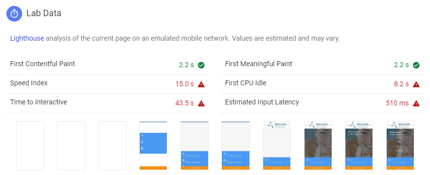 page speed test Google
