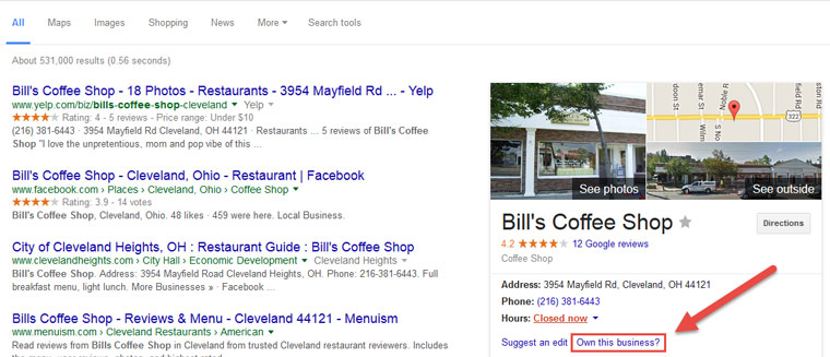 Google My Business local SEO