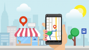 A customer finding your business in Google My Business listing on a mobile device.