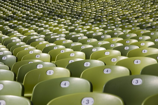 marketing target audience rows of empty chairs