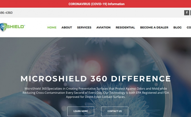 Coronavirus Notification Options for Websites