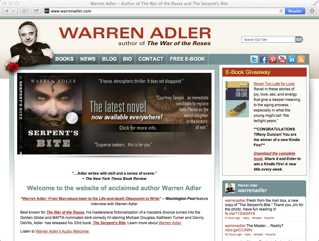 Dynamics Online – Warren Adler – Author